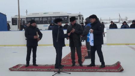 Открытие хоккейной коробки в с.Москово Дюртюлинского района